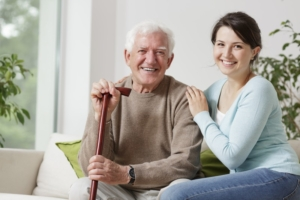 Senior Man Assisted Living